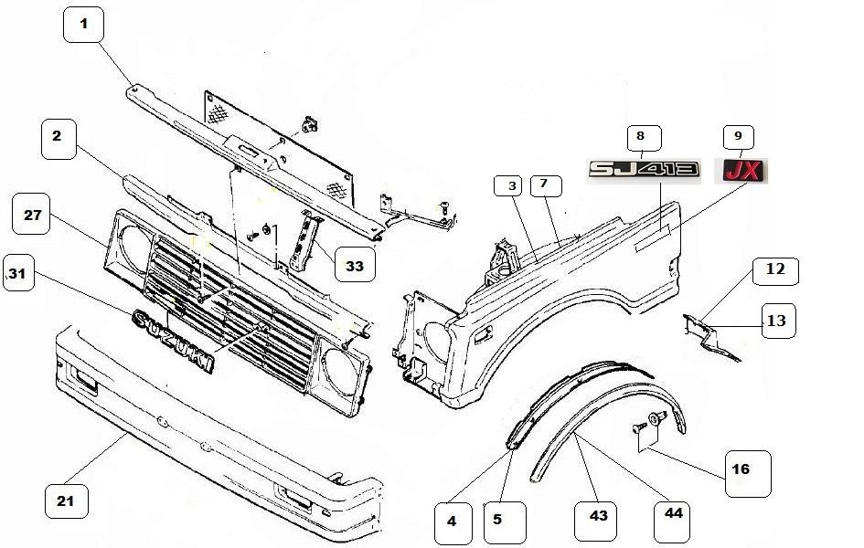 schema impianto elettrico suzuki jimny  schema elettrico